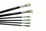 Lefranc & Bourgeois Hog Bristle Oil / Acrylic Brush x 6,  4 x Size 6 and 2 x Size 12. S7323